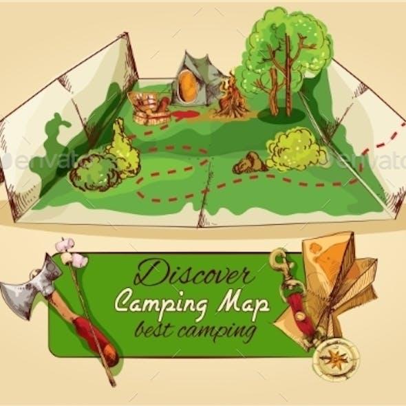 Camping Map Sketch