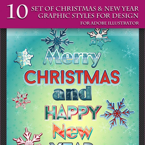 Set of Christmas & New Year Graphic Styles