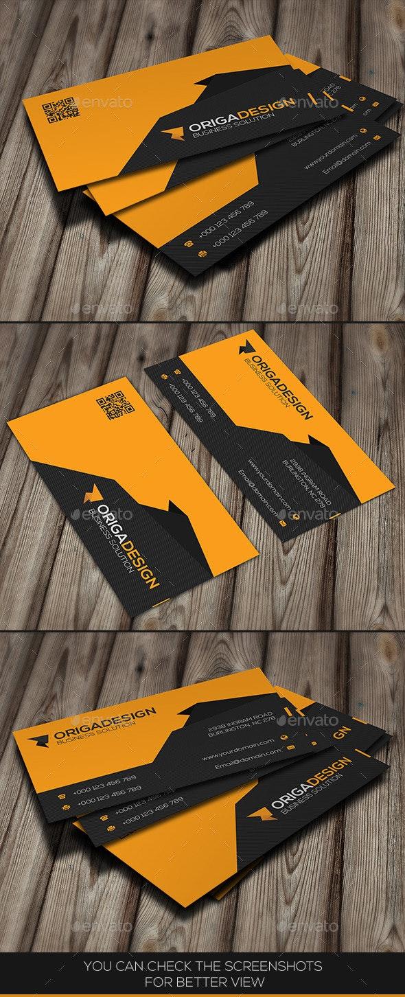 Origa Corporate Business Card - Business Cards Print Templates