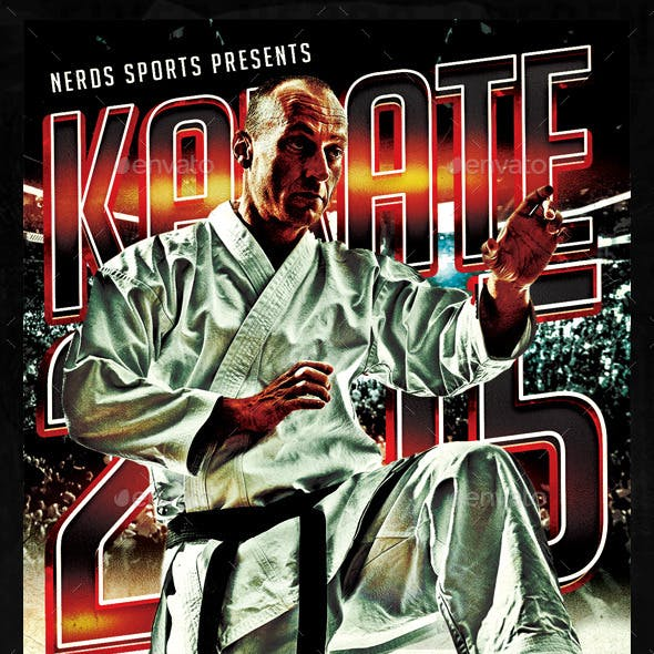 Karate 2K15 Tournament Sports Flyer