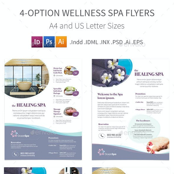 Wellness Spa Flyers – 4 Options