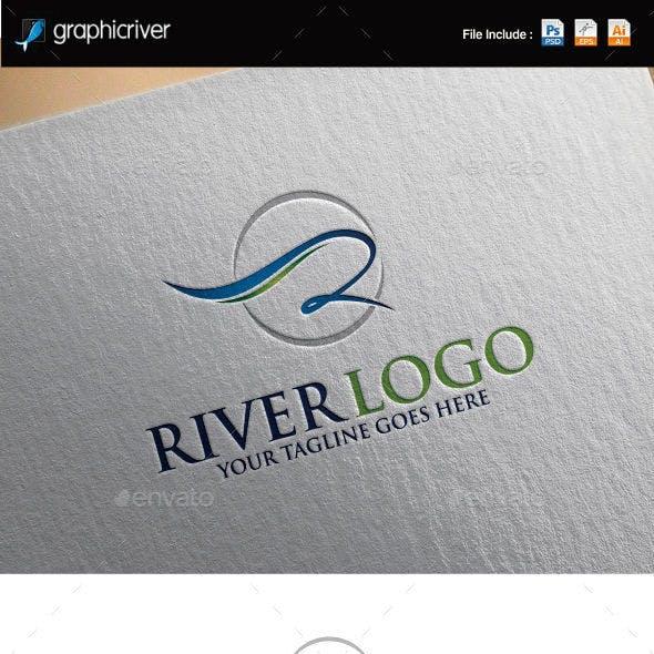 Letter R | River Logo