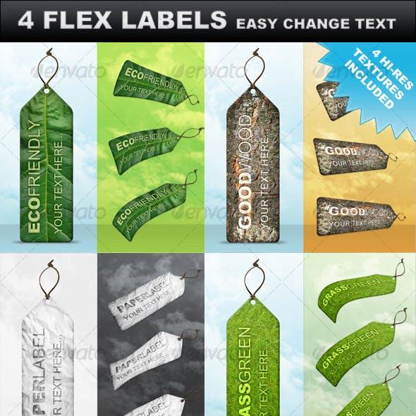 4 Premium Flex Labels