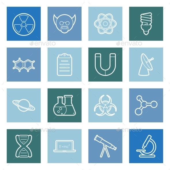Science Lines Icons Set