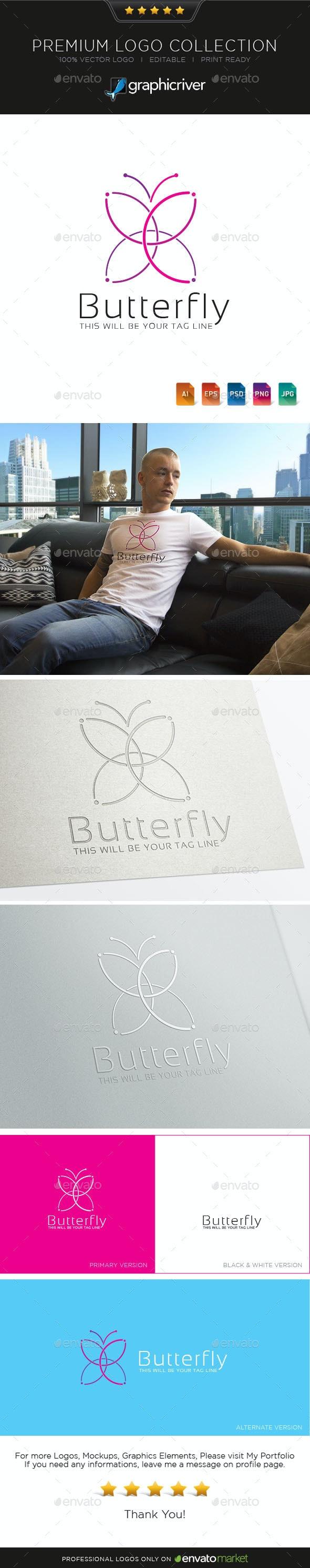 Butterfly Logo Symbol - Symbols Logo Templates