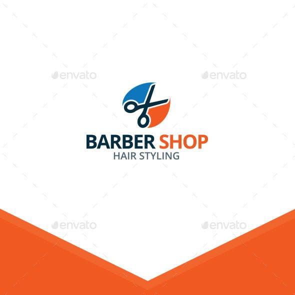 Scissors - Barber Shop Logo