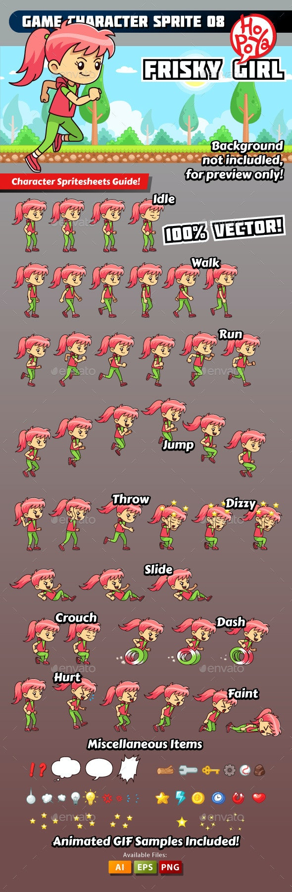 Game Character Sprite 08 - Sprites Game Assets