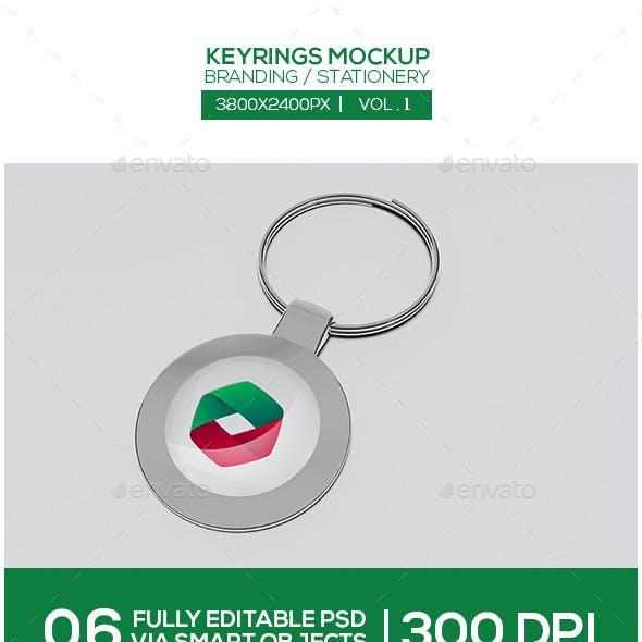 Keyrings Mockup