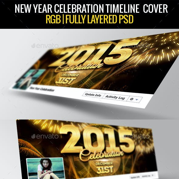New Year Facebook Cover 2015
