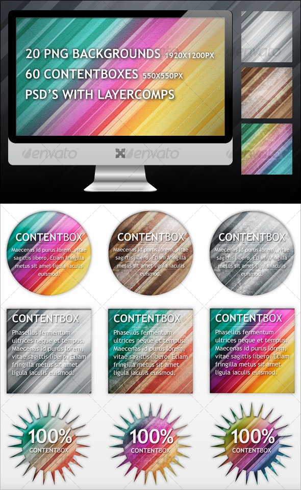 Stripes Backgrounds and Contentboxes - Miscellaneous Backgrounds