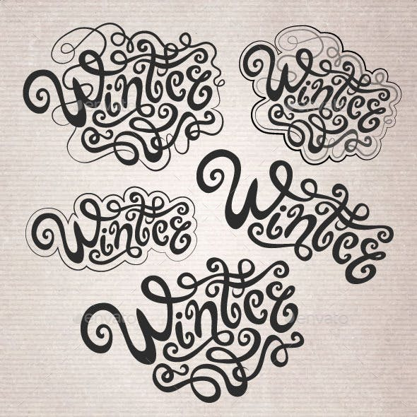 Winter Hand Lettering Set