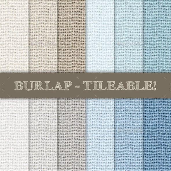 Burlap Textured Seamless Patterns
