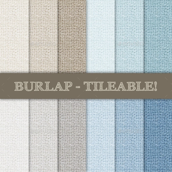 Burlap Textured Seamless Patterns  - Backgrounds Graphics