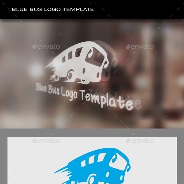 Blue Bus Logo Template