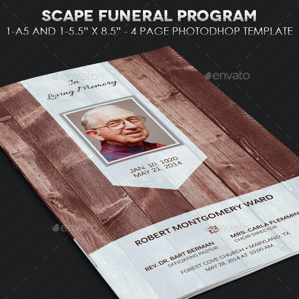 Scape Funeral Program Template