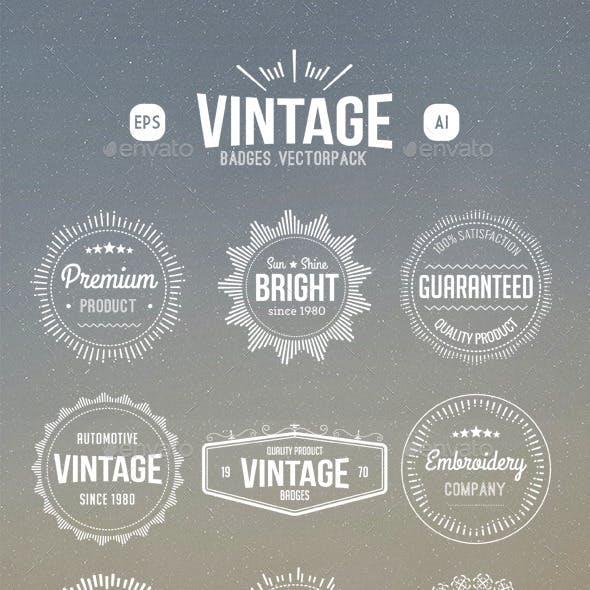 Vintage Retro Badges Vectors