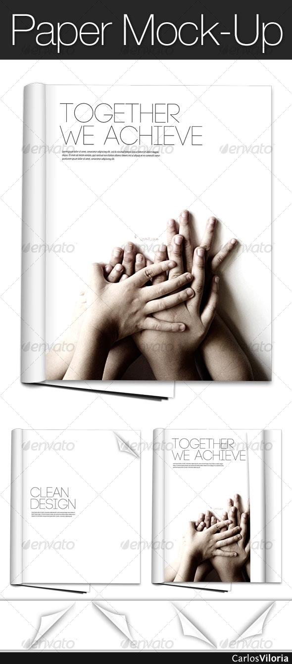 Paper Mock-Up - Magazines Print
