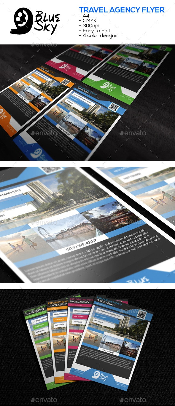A4 Travel Agency Flyer - Corporate Flyers