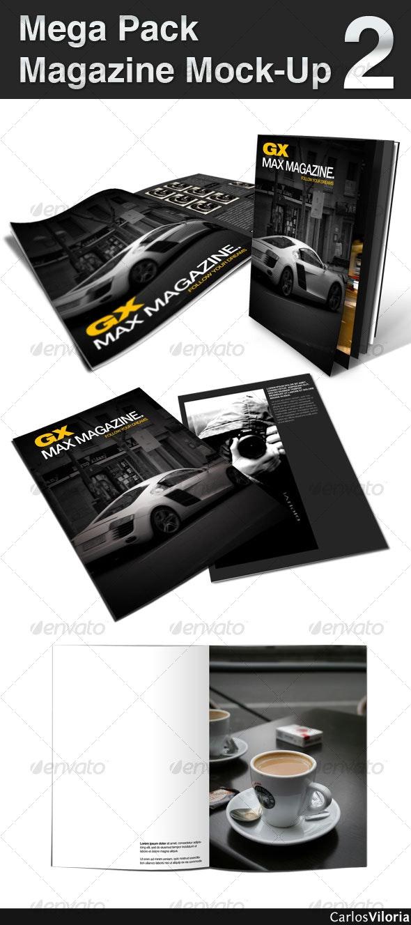 Mega Pack Magazine Mock-Up 2 - Magazines Print Templates