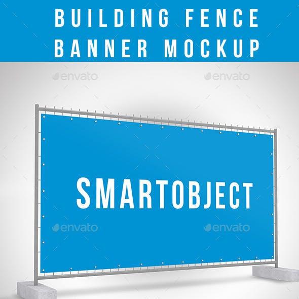 Building Fence Banner Mockup