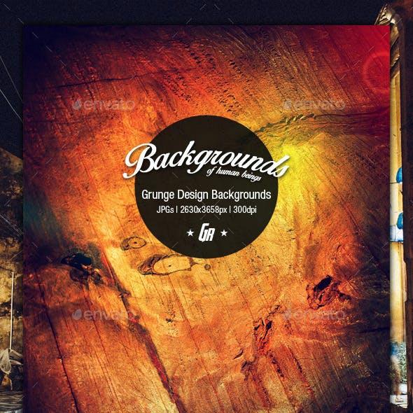 Grunge Design Backgrounds - A4