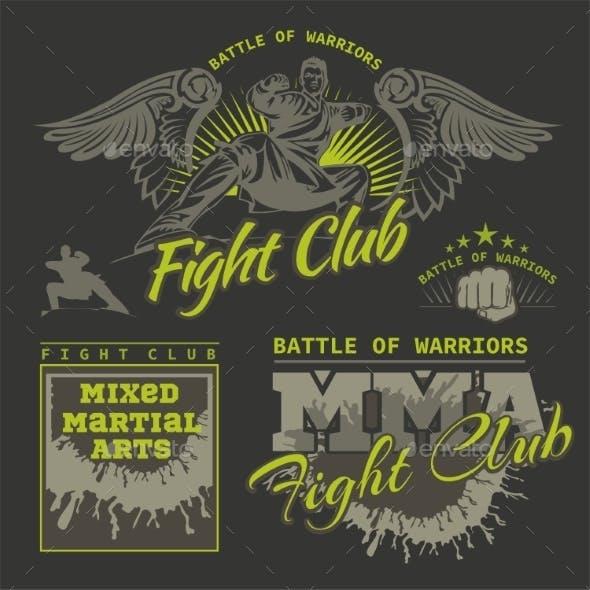 MMA Labels Mixed Martial Arts Design