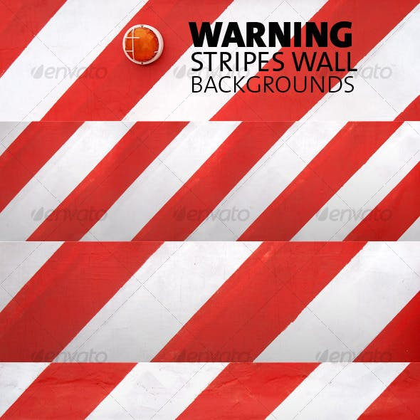 Warning Stripes Wall  Backgrounds Pack