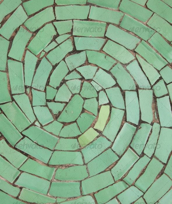 Ceramic swirl mosaic - Concrete Textures
