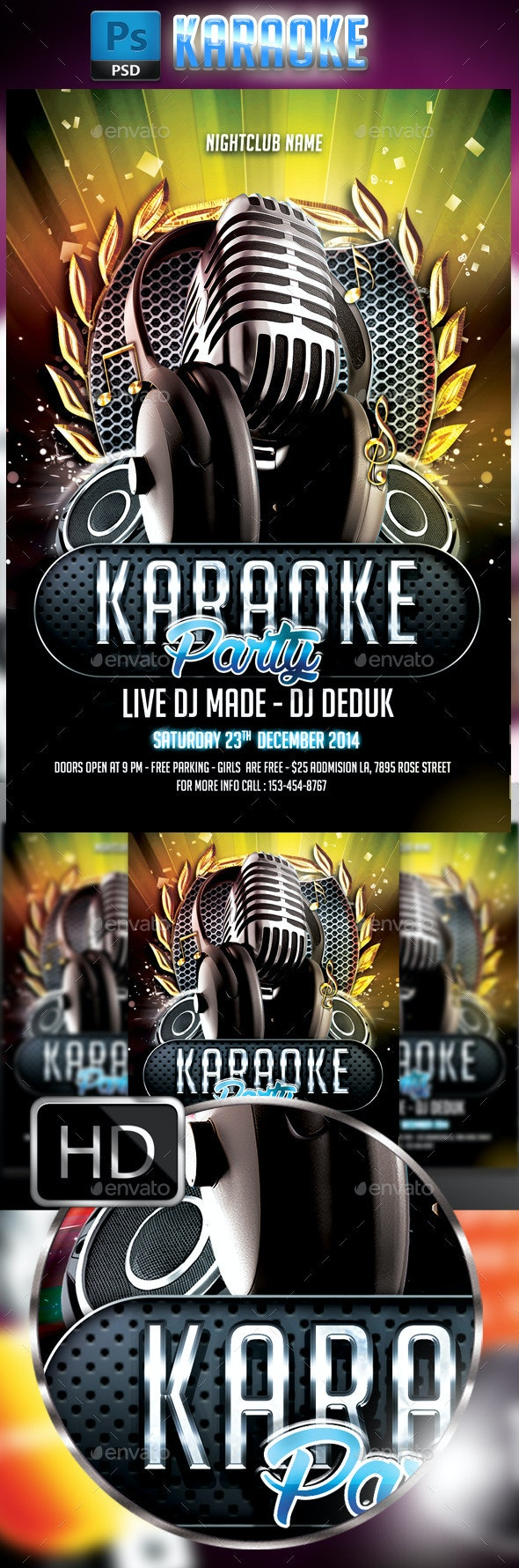 Karaoke Flyer #4 - Clubs & Parties Events
