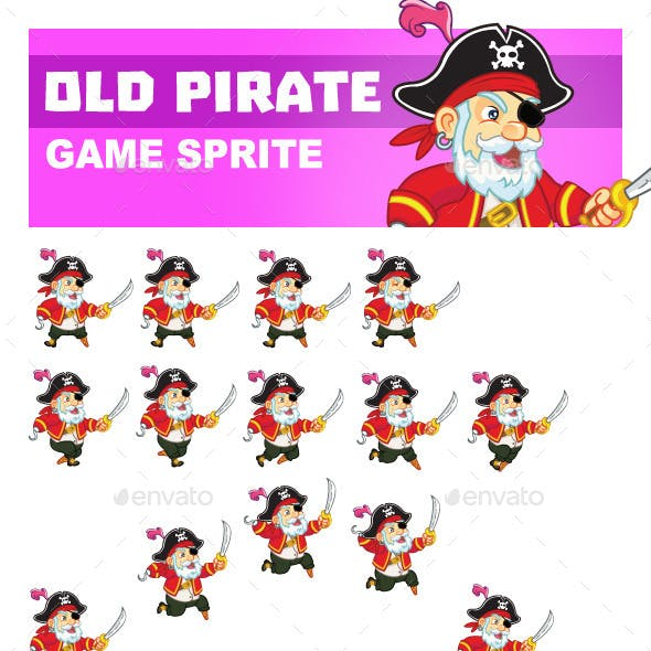 Old Pirate Game Sprite
