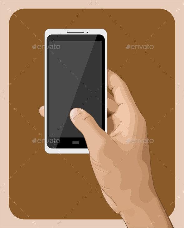 Hand holding Smart Phone - Communications Technology