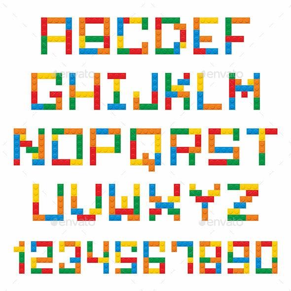 Construction Blocks Alphabet