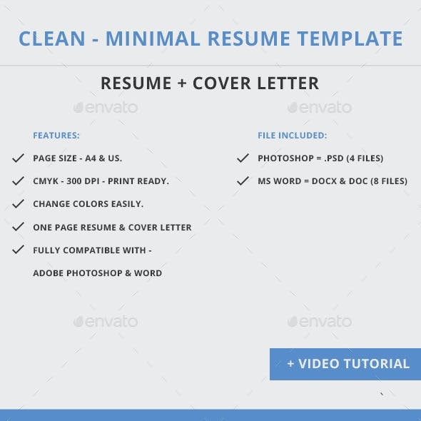 Clean - Minimal Resume Template