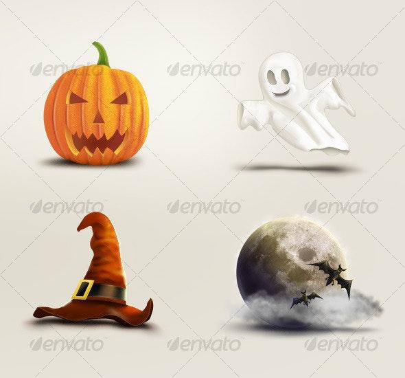 Halloween Set - Illustrations Graphics