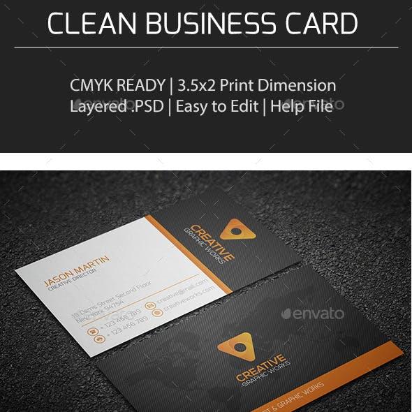 Clean Business Card V0154