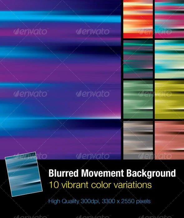 Blurred Movement Background Set - Backgrounds Graphics
