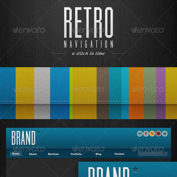 Retro Navigation - 250+ Web Ready Tiling Menu Bars