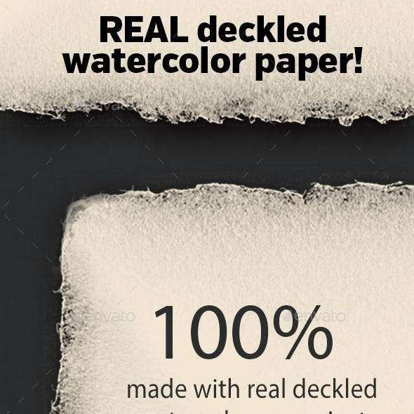 Real Deckled Watercolor