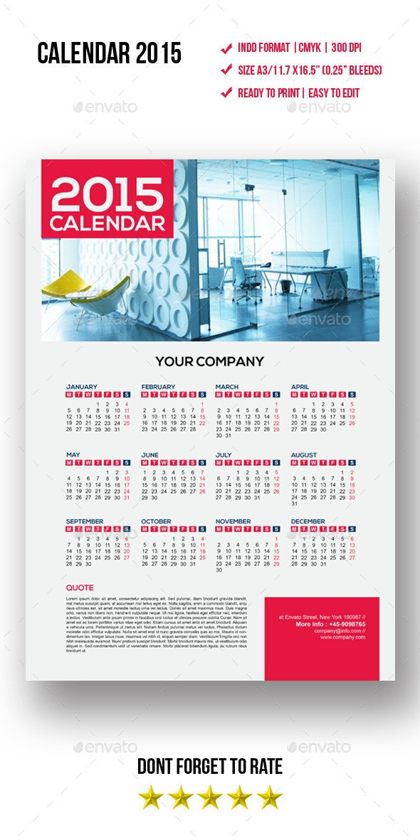 Calendars Template - Calendars Stationery