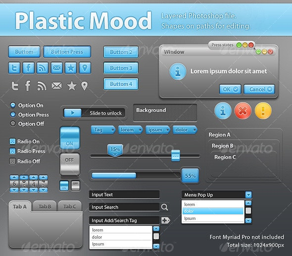 Plastic Mood - Components for App Interface - Miscellaneous Web Elements