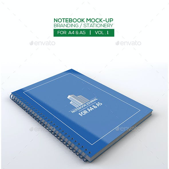 Notebook Mock-Up For A4/A5