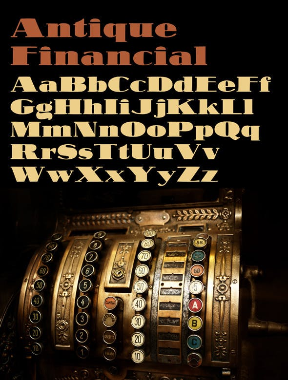 Antique Financial Font