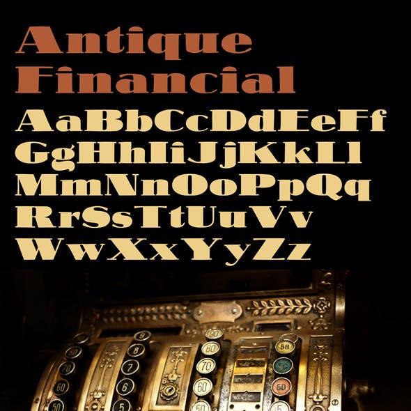 Antique Financial Font