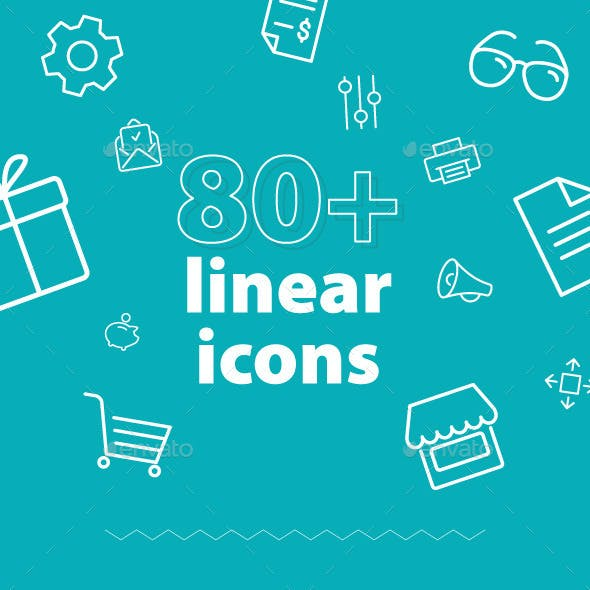 The Essential, 80+ Outlines Icon Set