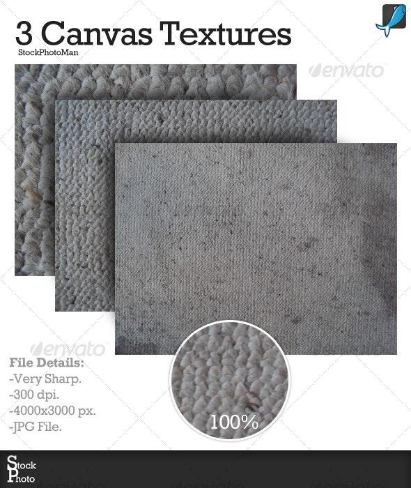 3 Canvas Textures - Fabric Textures