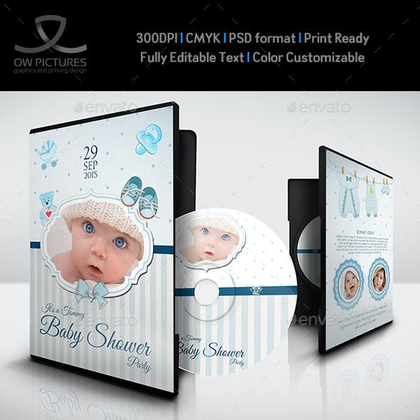 Baby Shower Party DVD Template