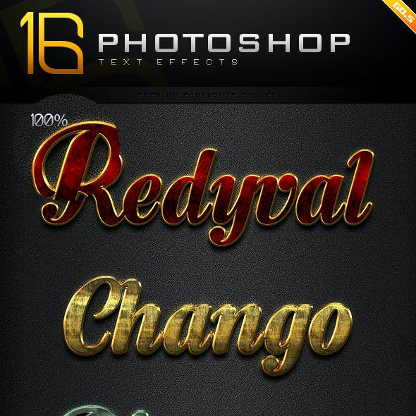 16 Photoshop Text Effect Styles GO.5