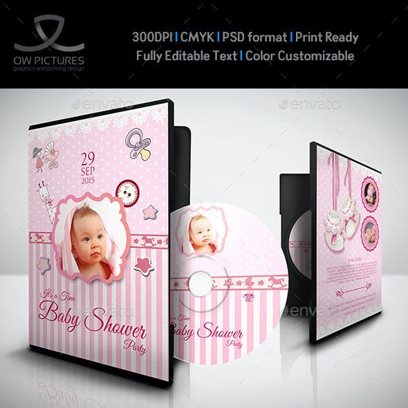 Baby Shower Party DVD Template Vol.2