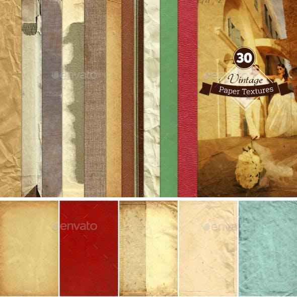 30 Vintage Paper Textures