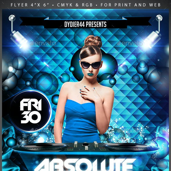 Absolute Blue (Flyer Template 4x6)